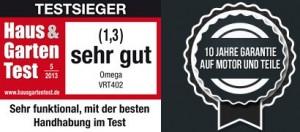 Omega VRT402 - Testsieger Haus und Garten